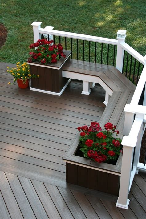 Patio Design Tips Gray Deck Stain With White Railing Outside