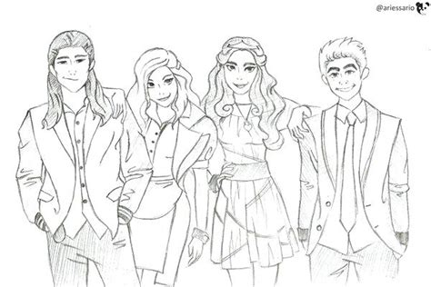 coloring page descendants 2 descendants coloring pages mal and evie coloring page