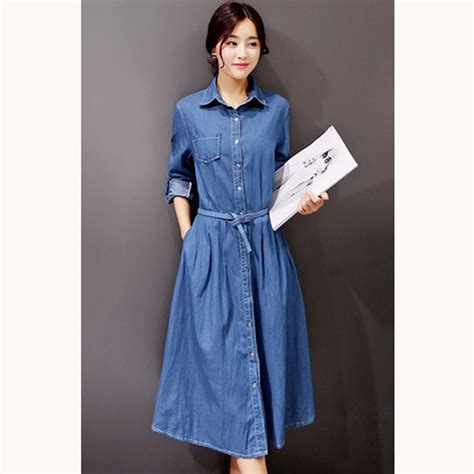 Dress Denim Import Fashion Cewek Maxi Dress Dress Jumbo 22 awesome womens sleeve denim dress playzoa