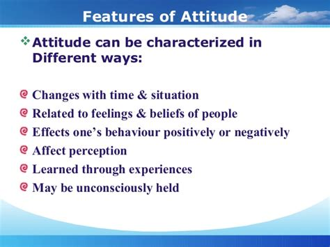 Mba Honours Meaning by Attitude Ppt Mba Hons