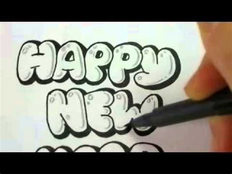 how to draw a new year make new year cards draw letters