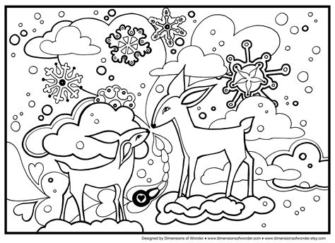 Winter Color Page free coloring pages of winter theme