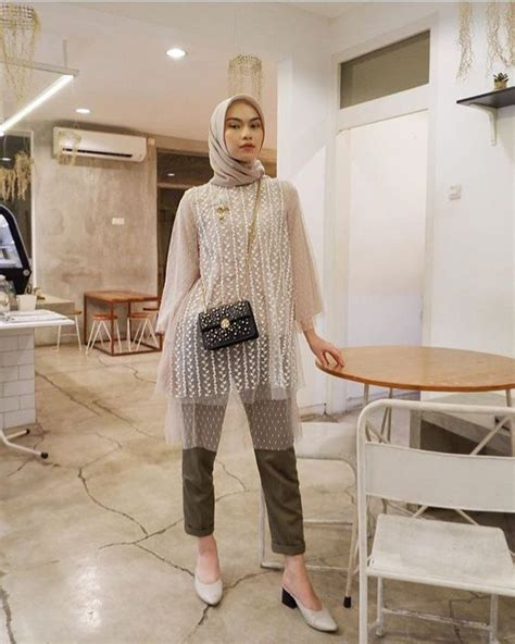 ootd kondangan style kondangan pake celana jeans hijab