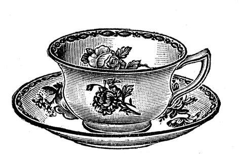 vintage clipart free vintage clip art images vintage tea party crockery
