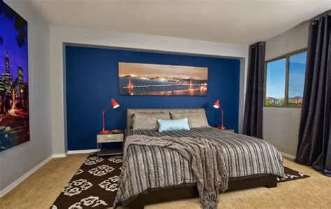 Blue Accent Wall by 15 Blue Bedrooms With Soothing Designs