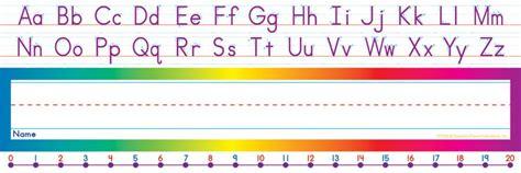 printable number lines for student desks alphabet number line standard name plates tf 1528