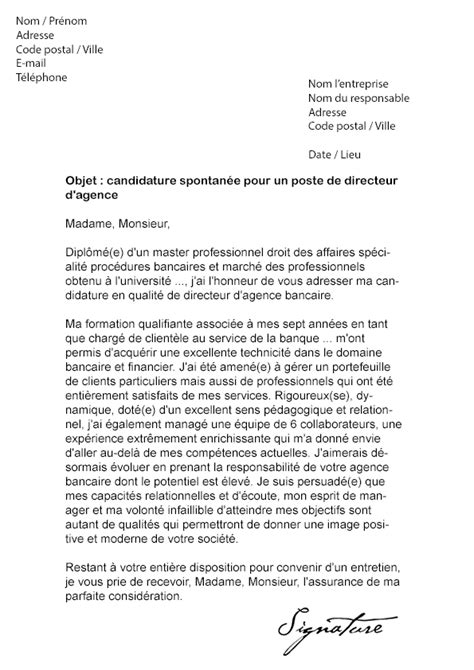 Exemple De Lettre De Motivation Responsable Commercial Modele Lettre De Motivation Directeur Document