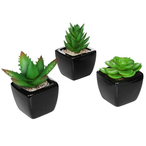 amazon com set of 3 modern square black ceramic