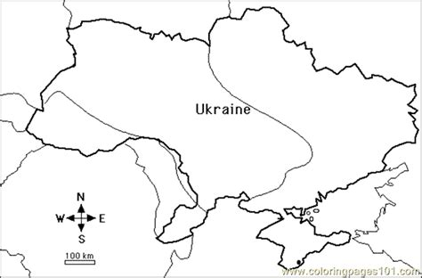 Ukraine Map Coloring Page | coloring pages map2 countries gt ukraine free printable