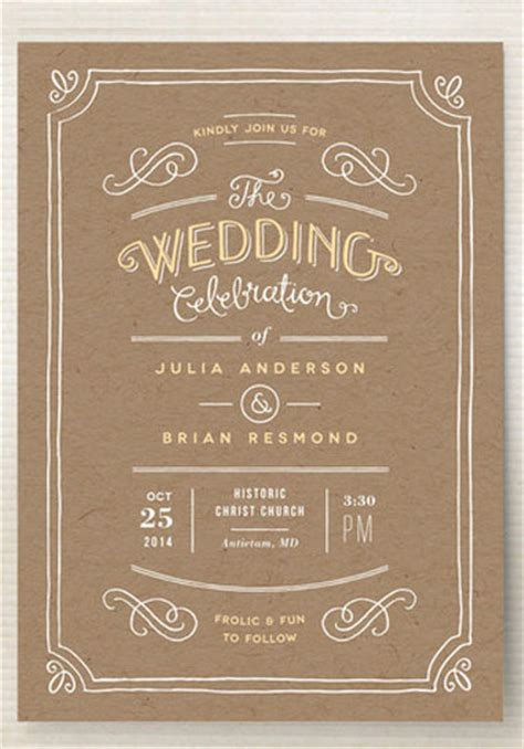 brown paper wedding invitations brown paper wedding invitations oxsvitation