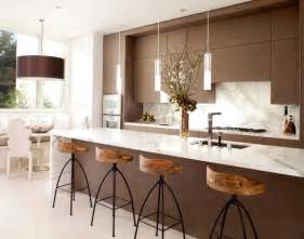 Modern Kitchen Pendant Lights Glass Countertop And Pendant Lights With Metallic Tinge For A Stylish Contemporary Kitchen Decoist