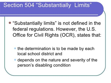 section 504 regulations introduction to section 504 09 08