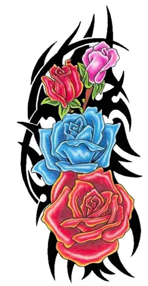 tribal rose tattoo clipart best