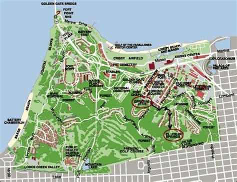 san francisco map presidio presidio web