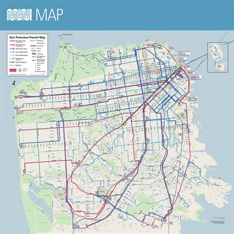 san francisco neighborhood map pdf muni system map sfmta