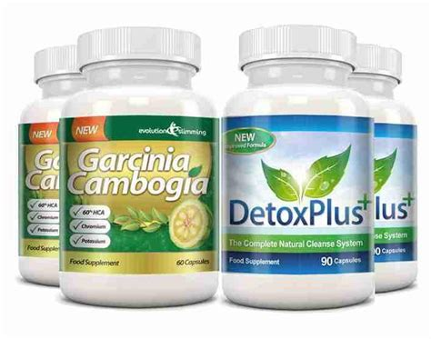 Garcinia Cambogia Detox 1000 by Garcinia Cleanse Combo Pack 1000mg 60 Hca With Potassium