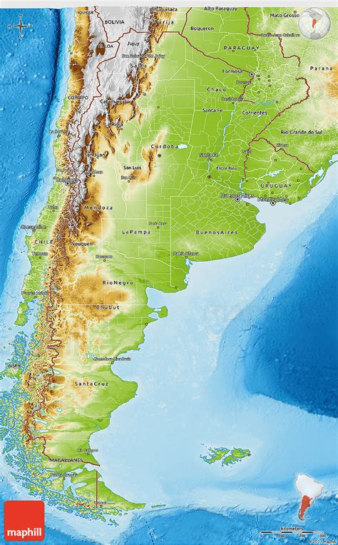 argentina physical map physical 3d map of argentina