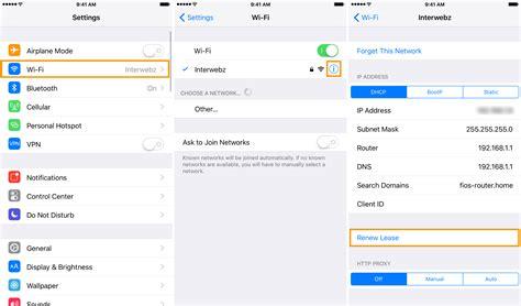 resetting wifi ip configuration renew ip address macbook pro