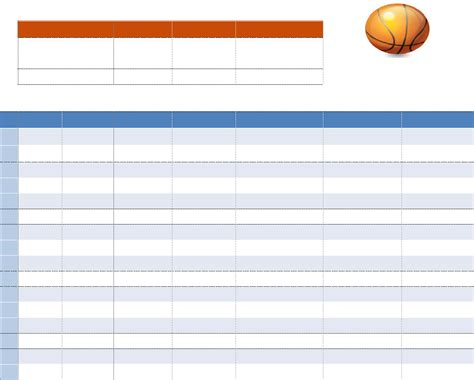 download basketball lineup template for free tidyform