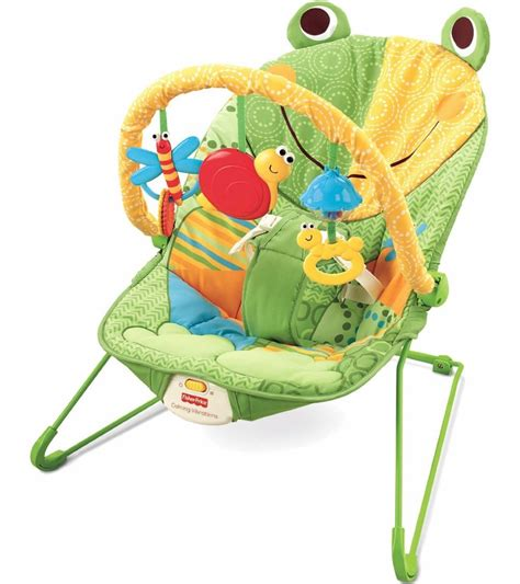 Are Bouncy Chairs For Babies by Fisher Price Baby Infant Bouncer Seat Chair In Frog Green