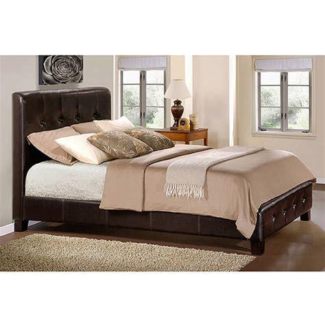 walmart upholstered bed inglewood queen tuffed upholstered bed walmart com