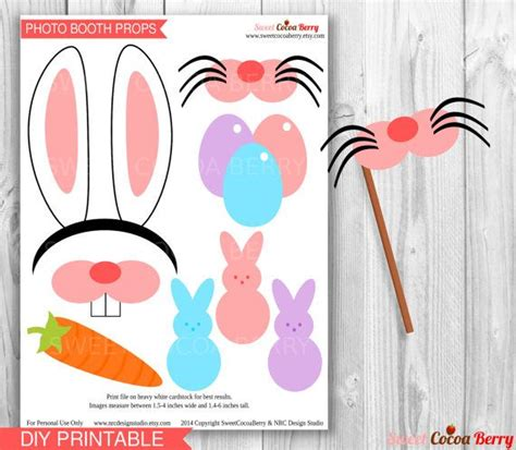 printable easter photo booth props easter photo booth props printable easter bunny party