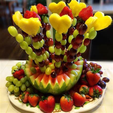 fruit arrangements diy diy edible arrangement s bridal shower