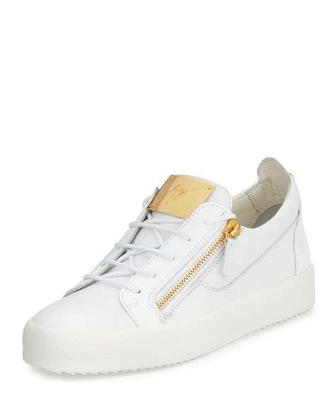 giuseppe zanotti s patent leather low top sneaker in