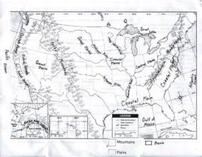 us physical features map printable gms 6th grade social studies august 2013