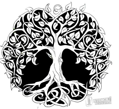 tattoo stencil paper at home tree of life stencil printable stencils stenciling and