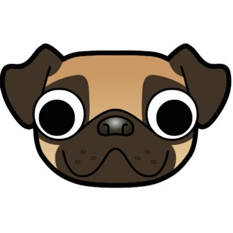 comic pug pug fawn zazzle