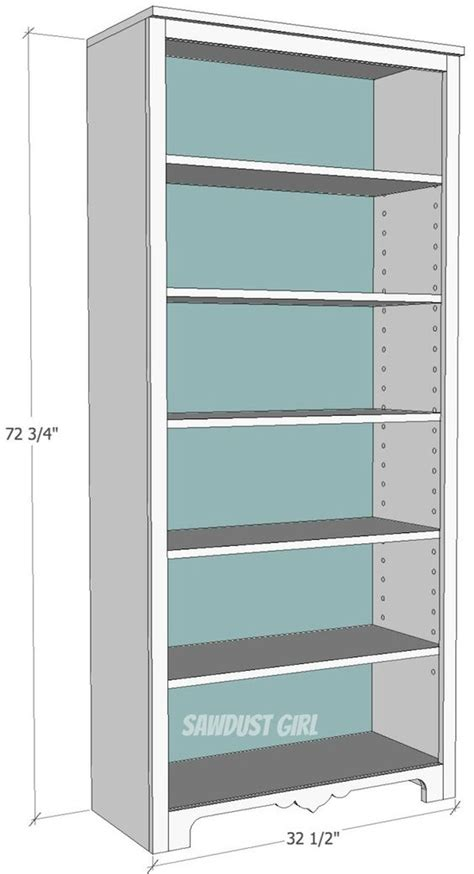 free plans to build a bookshelf with adjustable