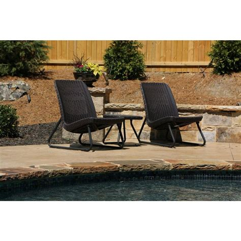 keter rio brown 3 piece all weather patio seating set