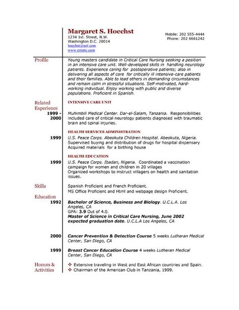 exle of resume resume exles exle of resume by easyjob the best