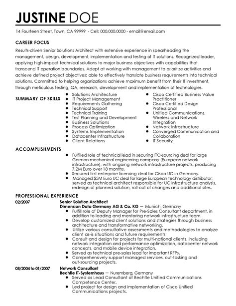professional resume example sample resumes for professionals