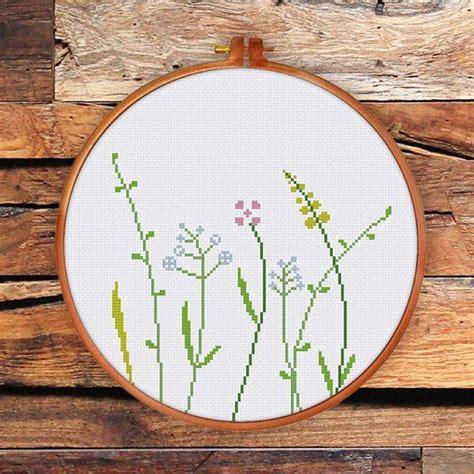 Moderne Kreuzstichvorlagen wildblumen kreuz stich moderne kreuzstich muster nat 252 rliche kreuzstich muster muster natur