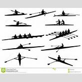 Rowing Silhouettes Royalty Free Stock Image - Image: 34333336