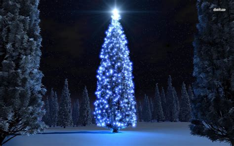 christmas wallpapers with blue lights blue tree wallpaper wallpapersafari