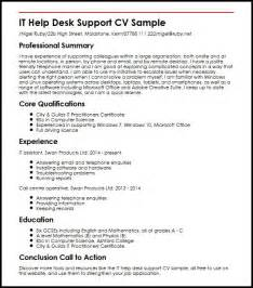 Support Letter With Cv It Help Desk Support Cv Sle Myperfectcv