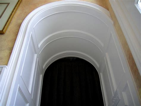 Arched Ceilings by Architectural Detailing For A Foyer Crown Millwork