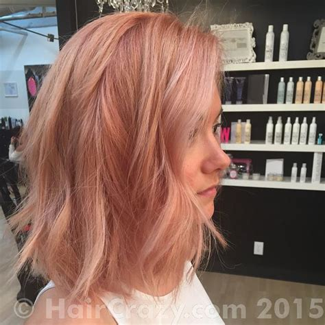 rose gold hair color rose gold hair color formula hairstylegalleries com