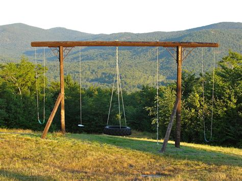 tall swing set pieced pastimes summer on the mountain