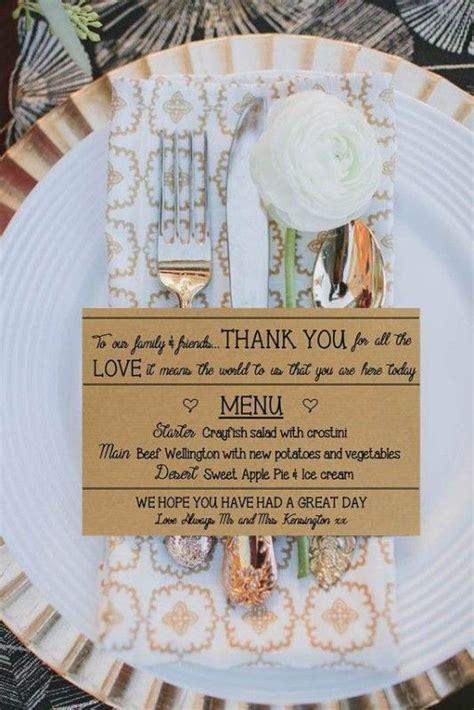 wedding table menu ideas 25 best napkin ideas on napkin table