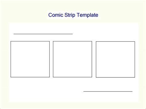 7 Best Images Of Printable Blank Comic Strip Frames Comic Frames Template