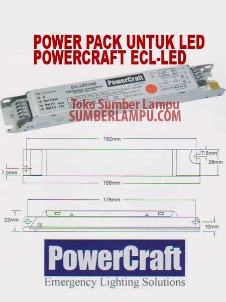Lu Emergency Power Craft powercraft ecl led powerpack untuk lu led sumber