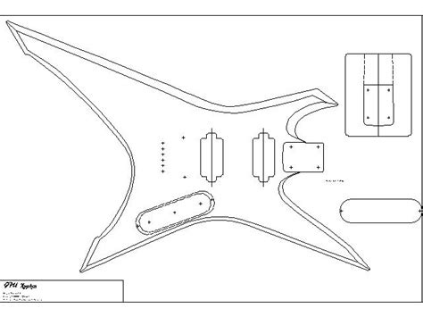 guitar design template lomins guitar plans gibson explorer