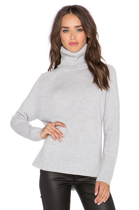 Turtle Neck Grey michael sleeve turtleneck sweater in gray lyst