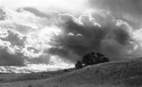 white  yellow cloudy sky  farm lands  stock photo