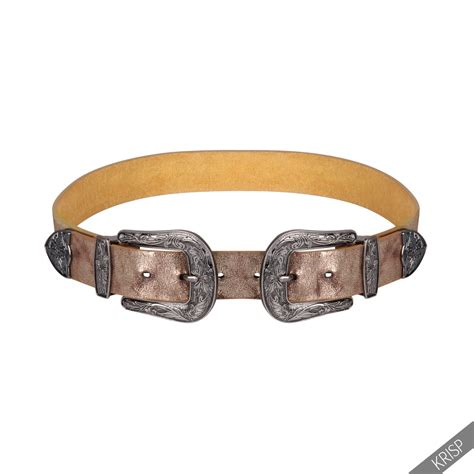 Faux Leather Buckle Belt duble buckle thick faux leather western belt womens