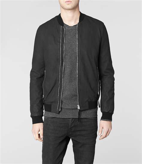 Jacket Bomberkeren 11 lyst allsaints calder leather bomber jacket in black for